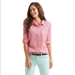 Vineyard Vines Pink Gingham Oxford Button Down  12